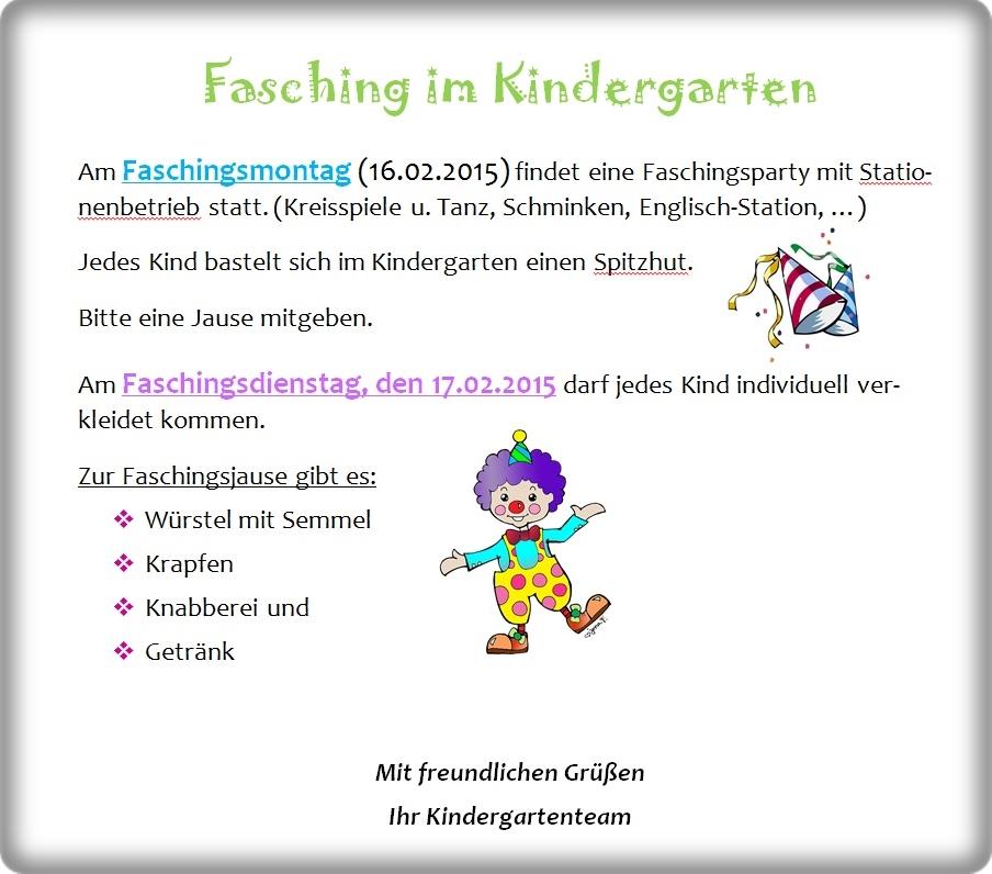 Fasching Im Kindergarten Wildendurnbach Ris Kommunal Home